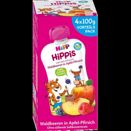 HiPP Hippis Waldbeeren in Apfel-Pfirsich