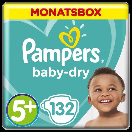 Pampers Baby Dry Gr.5+ Junior Plus 12-17kg MonatsBox