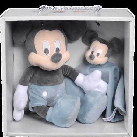 Disney's Mickey Schmusetuch und Plüschtier Set Blau