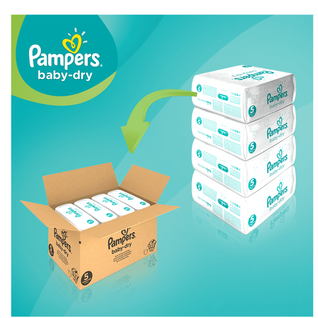 Pampers Baby Dry Gr.5 Junior 11-16kg MonatsBox