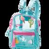 Bild: LOOK BY BIPA Kinderrucksack Blau Transparent