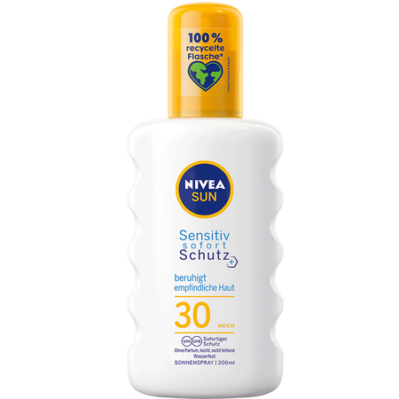 NIVEA Sun Sensitiv Sofort Schutz beruhigend Sonnenspray LSF30