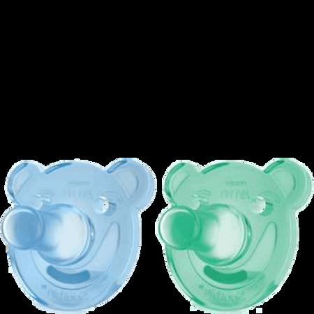 PHILIPS AVENT Schnuller Soothie, 0-3 Monate, blau/grün