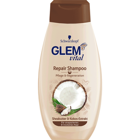Schwarzkopf GLEM vital Repair Shampoo Sheabutter & Kokos-Extrakt