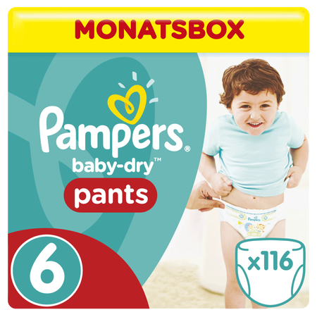 Pampers Baby Dry Pants Gr.6 Extra Large 15+kg MonatsBox