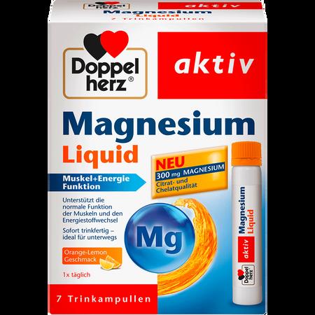 DOPPELHERZ Magnesium Liquid Ampullen