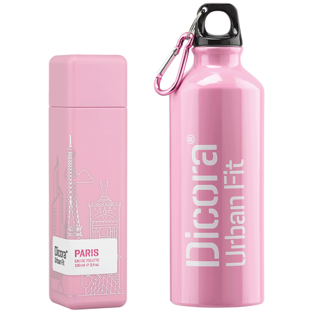 Dicora Duftbox Urban Fit Paris mit Trinkflasche Eau de Toilette (EdT)