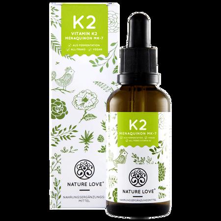 NATURE LOVE Vitamin K2 Flüssig Menaquinon MK-7