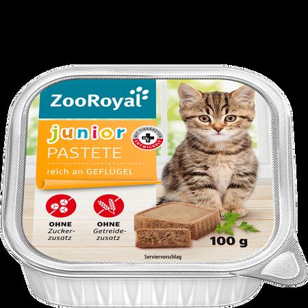 ZooRoyal Junior Pastete Geflügel Katzenfutter
