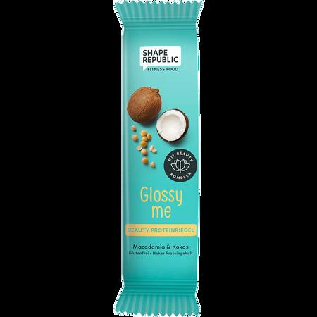 SHAPE REPUBLIC Glossy Me Beauty Protein Riegel Macadamia & Kokos