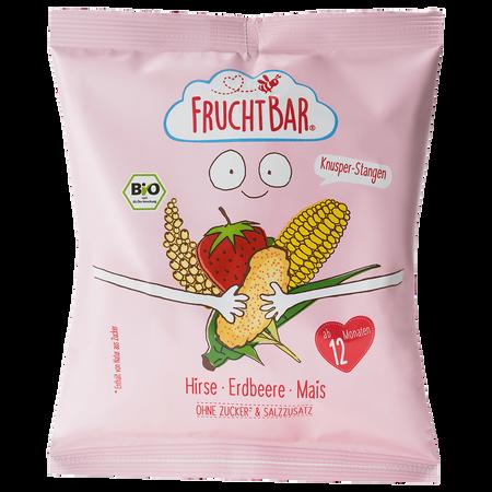 FruchtBar Hirse Erdbeere Mais Knusper Stangen