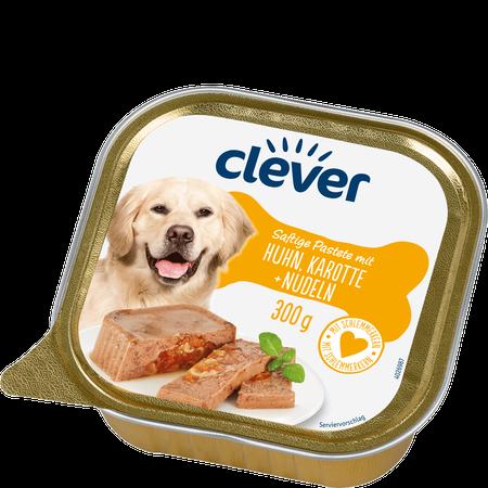 clever Saftige Pastete mit Huhn, Karotte + Nudeln Hundefutter