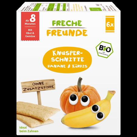 Freche Freunde Knusper Schnitte Banane &  Kürbis