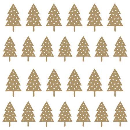 Servietten goldener Tannenbaum