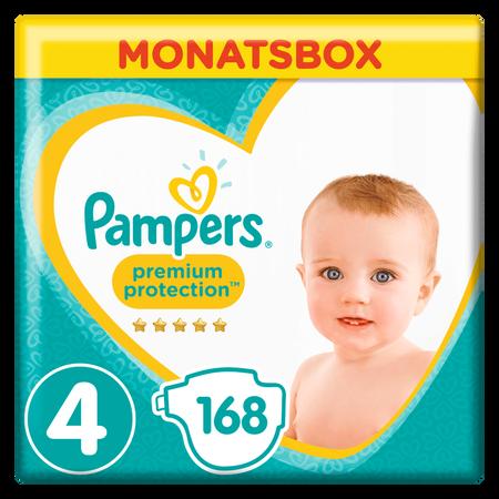 Pampers Premium Protection Gr.4 Maxi 9-14kg MonatsBox
