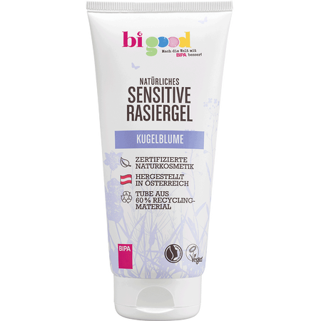 bi good Sensitives Rasiergel Kugelblume