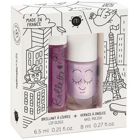 nailmatic Kinder Set -  Nagellack auf Wasserbasis & Lipgloss Lovely City