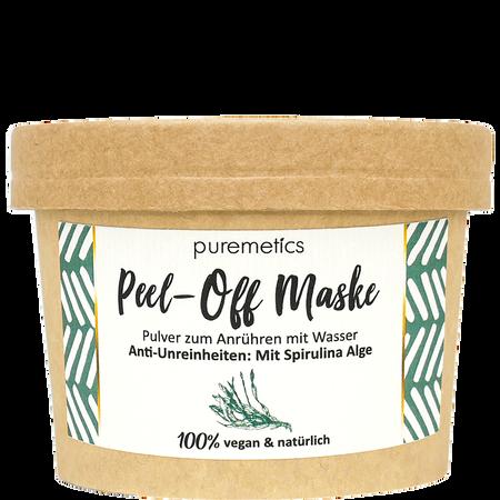 puremetics Peel-Off Gesichtsmaske Anti Unreinheiten mit Spirulina