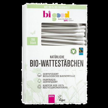bi good Natürliche Bio-Wattestäbchen