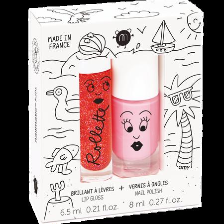 nailmatic Kinder Set -  Nagellack auf Wasserbasis & Lipgloss Holidays