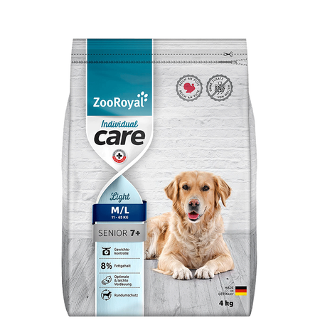 ZooRoyal Individual Care Senior Light Reich an Pute Hundefutter