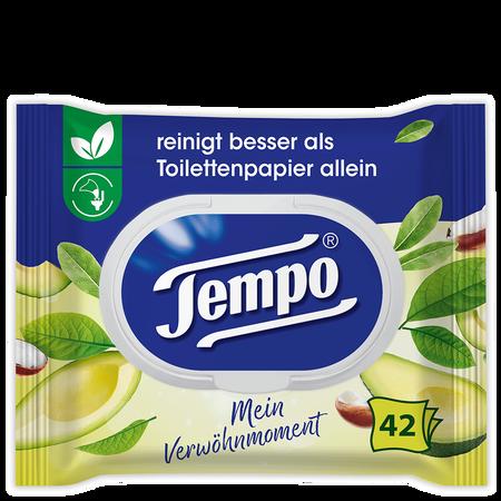 Tempo Feuchtes Toilettentücher Mein Verwöhnmoment Avocado & Shea Butter