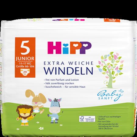 HiPP Babysanft Windeln Junior 5 11-17 kg