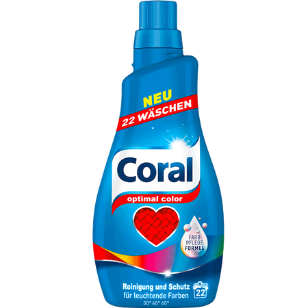Coral Waschmittel optimal color flüssig