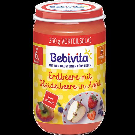 Bebivita Erdbeere mit Heidelbeere in Apfel