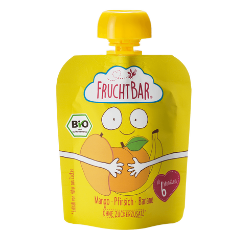 FruchtBar Bio Fruchtpüree I love yellow
