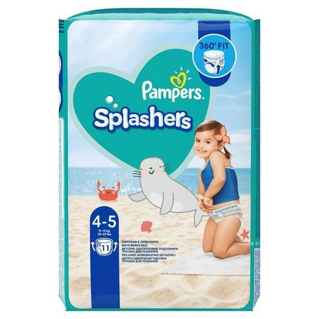 Pampers Splashers Größe4-5, Einweg-Schwimmwindeln