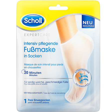 Scholl Intensiv pflegende Fußmaske in Socken