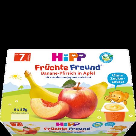 HiPP Früchte-Freund Banane-Pfirsich in Apfel