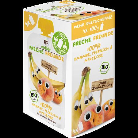 Freche Freunde Quetschbeutel Multipack Banane, Pfirsich & Aprikose