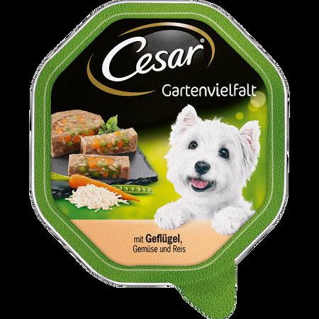 Cesar Gartenvielfalt mit Geflügel, Gemüse und Reis