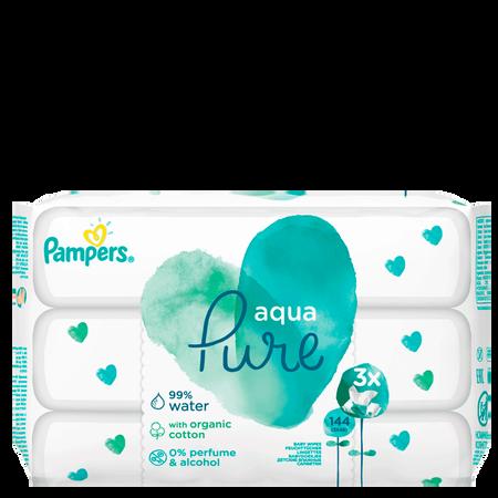 Pampers Feuchttücher Aqua 3er Pack
