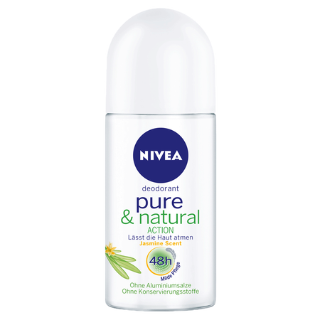 NIVEA Pure & Natural action Roll-on