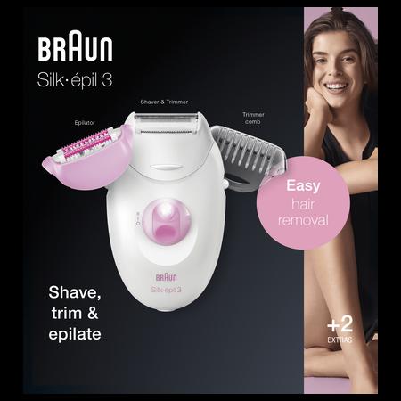 Braun Silk-épil 3 3-270 Epilierer   Rosa