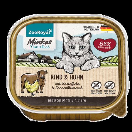 ZooRoyal Minkas Naturkost Adult Rind & Huhn Katzenfutter