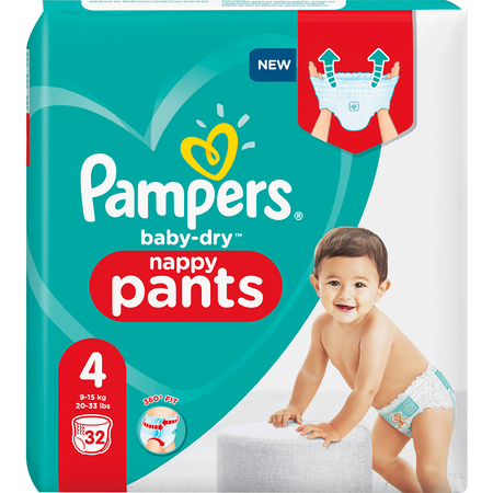 Pampers Baby-Dry Pants Gr. 4 (9-15kg) Einzelpack