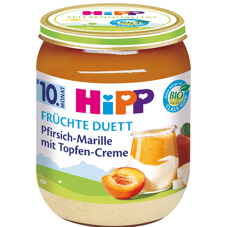 HiPP Pfirsich-Marille mit Topfencreme