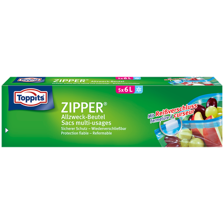 Toppits ZIPPER Allzweck-Beutel