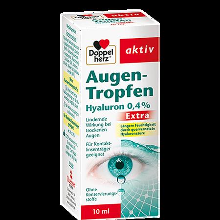 DOPPELHERZ Augentropfen Hyaluron 0,4 %extra