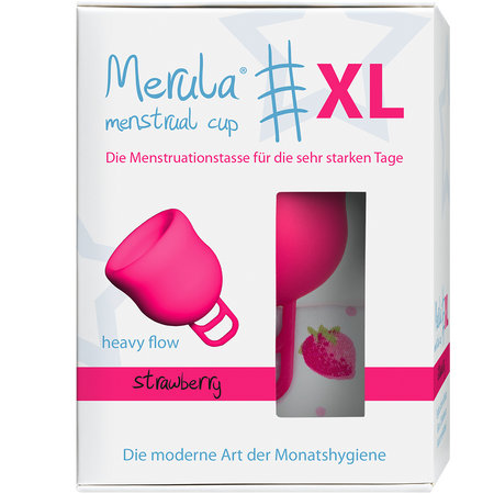 Merula Merula Cup XL strawberry Menstruationstasse