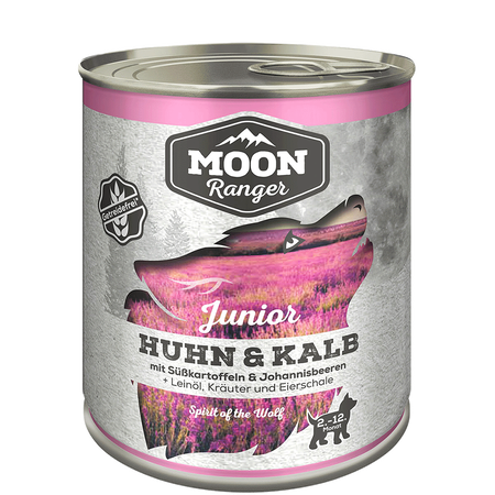 Moon Ranger Huhn, Kalb & Süßkartoffeln Junior Hundefutter