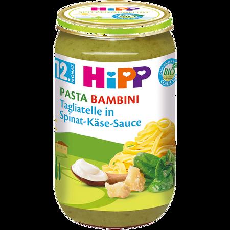 HiPP Tagliatelle in Spinat-Käse-Sauce