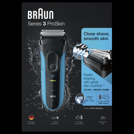 Braun Series 3 3010s wet & dry Shaver