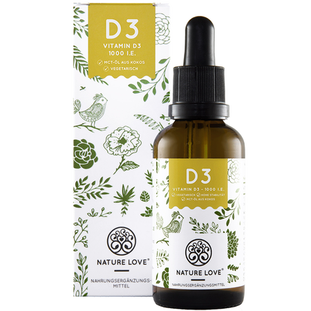 NATURE LOVE Vitamin D3 Tropfen