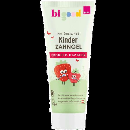 bi good Natürliches Kinder Zahngel Erdbeer-Himbeer