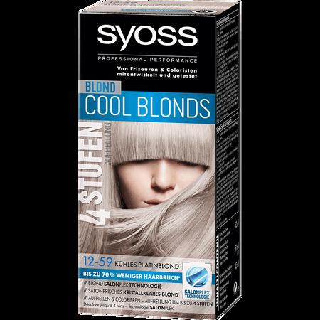 Bild: syoss PROFESSIONAL Cool Blonds kühles platinblond syoss PROFESSIONAL Cool Blonds